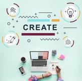 Concept de graphique d'idées d'imagination créative de conception images stock