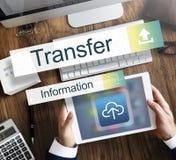 Concept de graphique d'Internet de l'information de transfert photo libre de droits