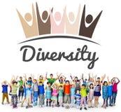 Concept de graphique d'unité d'unité de nationalité de diversité Photos libres de droits