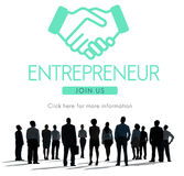 Concept de graphique de Business Venture Handshake d'entrepreneur photos stock