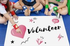 Concept de graphique de coeur de donation de charité Photographie stock libre de droits