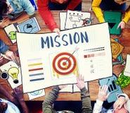 Concept de graphique de dard d'affaires de buts de cible de flèche de mission Photos stock