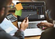 Concept de graphique de finances de forex de commerce de bourse des valeurs  Photos stock