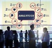 Concept de graphique de la tactique de méthodes de stratégie d'Analytics d'affaires image libre de droits