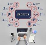 Concept de graphique de la tactique de méthodes de stratégie d'Analytics d'affaires images stock
