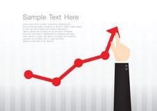Concept de graphique de main Image libre de droits