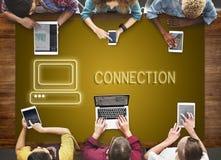 Concept de graphique de media de calculateur numérique de communication image libre de droits