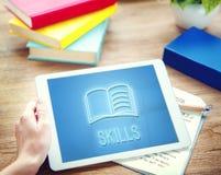 Concept de graphique de qualifications d'intelligence d'amélioration d'éducation Photos libres de droits