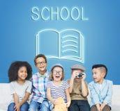 Concept de graphique de qualifications d'intelligence d'amélioration d'éducation Photographie stock