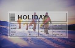 Concept de graphique de relaxation de tourisme de voyage de vacances photo stock