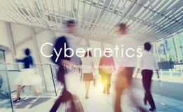 Concept de graphique de technologie d'intelligence artificielle de cybernétique photo libre de droits