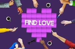 Concept de graphique de technologie de coeur d'amour de découverte Images stock