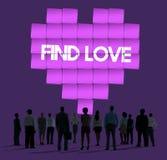 Concept de graphique de technologie de coeur d'amour de découverte Photos libres de droits