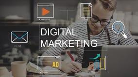 Concept de graphique de technologie de media de vente de Digital Illustration de Vecteur