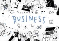 Concept de graphiques de planification de stratégie d'icônes d'affaires Photo stock
