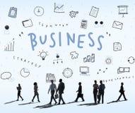 Concept de graphiques de planification de stratégie d'icônes d'affaires Image stock