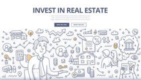 Concept de griffonnage d'investissement immobilier Images stock
