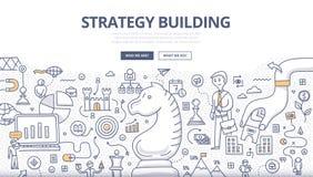 Concept de griffonnage de bâtiment de stratégie Images libres de droits