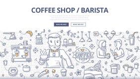 Concept de griffonnage de café illustration stock
