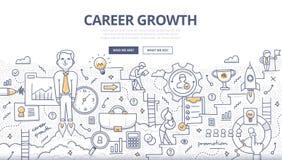 Concept de griffonnage de croissance de carrière Images libres de droits