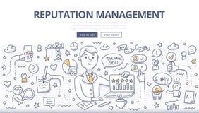 Concept de griffonnage de gestion de réputation Photographie stock