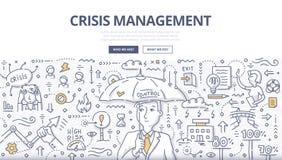Concept de griffonnage de gestion des crises illustration libre de droits