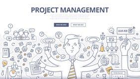 Concept de griffonnage de gestion des projets Photographie stock libre de droits