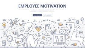 Concept de griffonnage de motivation des employés Image libre de droits
