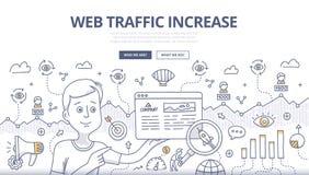 Concept de griffonnage du trafic de Web Photographie stock libre de droits