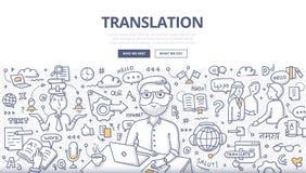 Concept de griffonnage de traduction illustration stock
