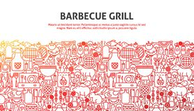 Concept de gril de barbecue Images stock