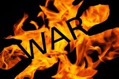 Concept de guerre en feu photographie stock libre de droits