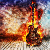 Concept de guitare électrique illustration stock