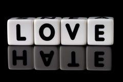 Concept de haine d'amour Images stock