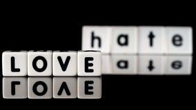 Concept de haine d'amour Photographie stock libre de droits