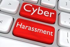 Concept de harcèlement de Cyber Photos libres de droits