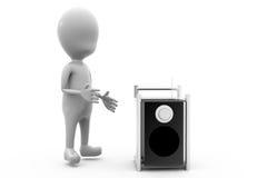 concept de haut-parleur de l'homme 3d Photos libres de droits