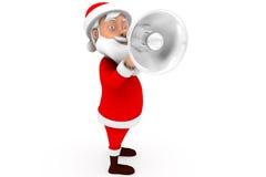 concept de haut-parleur de Santa de l'homme 3d Photographie stock