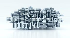 Concept de industrie 4 Royalty-vrije Stock Foto's