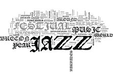 Concept de Jazz Music Festivals Word Cloud Photographie stock libre de droits