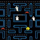 Concept de jeu électronique de Veille de la toussaint Photographie stock libre de droits