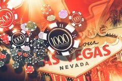 Concept de jeu de Vegas illustration stock