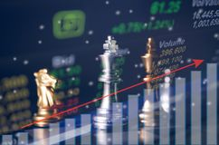 Concept de jeu de société d'échecs des idées d'affaires Photographie stock libre de droits