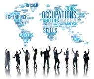 Concept de Job Careers Expertise Human Resources de profession Image stock