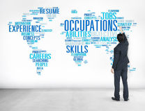 Concept de Job Careers Expertise Human Resources de profession Images stock