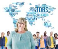 Concept de Job Careers Expertise Human Resources de profession Photographie stock