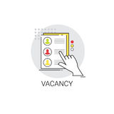 Concept de Job Position Vacancy Icon Business de candidat de recrutement Photo stock