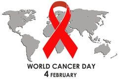 Concept de jour de Cancer du monde Illustration de vecteur illustration stock