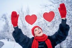 Concept de jour d'amour et de valentines Images stock