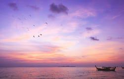 Concept de jour d'environnement du monde : Fond de coucher du soleil de ciel images libres de droits